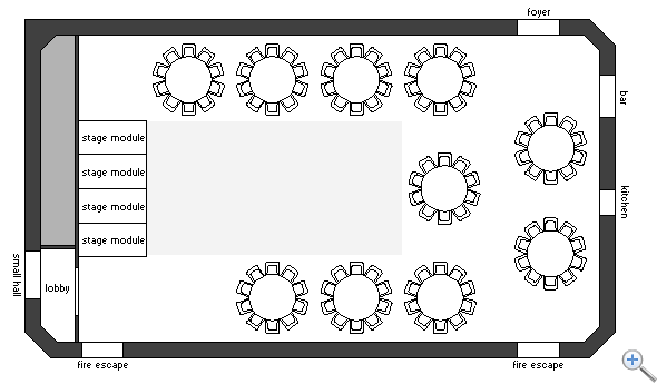 Main Hall cabaret layout