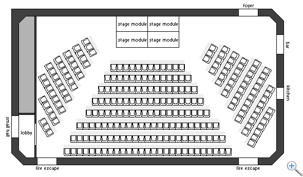 Main Hall theatre layout 2