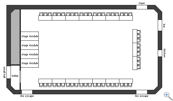 Main Hall U-shape layout