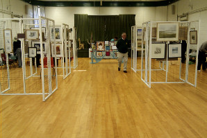 Preparing for an art fair in the Main Hall